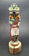 "VINTAGE Rare Authentic HOPI Kachina Doll LIZARD (Monongya) Elmer Adams 12-1/4"""