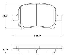 Disc Brake Pad Set-Street Brake Pads Front Stoptech 308.07070