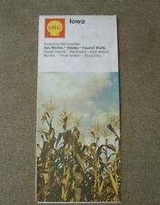 New ListingShell map 1970 Iowa Vintage state map