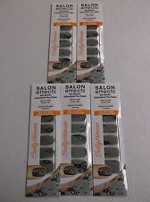 5 SALLY HANSEN SALON EFFECTS LIMITED EDITION REAL NAIL POLISH STRIPS - NEW DL 56