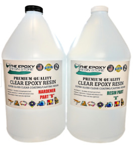 Clear Epoxy Resin Table top bar epoxy concrete coating - 2 GALLON KIT+1 GALLON