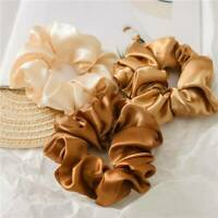 Colorful Faux Silk Satin Scrunchie Elastic Hairbands Womens Girls Hair Rope Tie