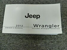 2012 Jeep Wrangler Owner Manual User Guide Sport Unlimited RHD Sahara Rubicon