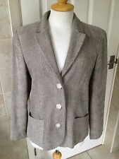 Jaeger Ladies Beige Single Breasted Suit Jacket Size 12. Great Condition.