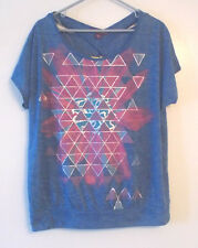 Beverly Drive Womens Plus Size Top Shirt Blue X Back Blouse Size 1X  NWT