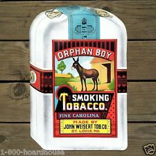 Vintage Original 1930s ORPHAN BOY CIGAR Smoking TOBACCO Paper Poster Unused NOS