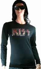Rare AMPLIFIED Official KISS Strass Rock Star ViP Sweater Langarm T-Shirt g.L