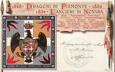 7448) VERCELLI, CAVALLERIA, LANCIERI DI NOVARA. VIAGGIATA NEL 1904.