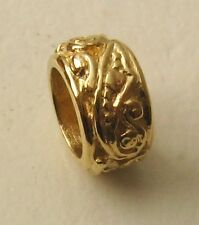GENUINE  SERENITY  9K  9ct  SOLID YELLOW  GOLD  CHARM  ORNATE  BEAD