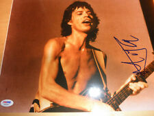 ROLLING STONES/MICK JAGGER SIGNED 11X14 PHOTO PSA/DNA! COA PROOF