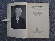 Memories of victorian Oxford hardback Sir Charles Oman 1941