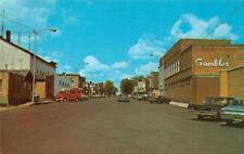PARK FALLS, WI Wisconsin STREET SCENE Gambles~60'sCars  PRICE CO Chrome Postcard