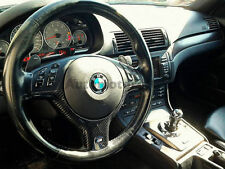 REAR Carbon M3-Style Steering Wheel Cover Replacement For 98-05 BMW E46