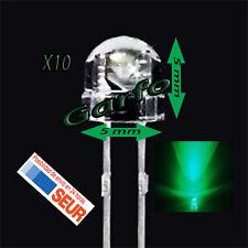 10X Diodo LED 5x5 mm Verde 2 Pin alta luminosidad