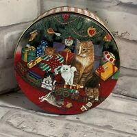 Decorative Tin Cats Under The Christmas Tree Vintage
