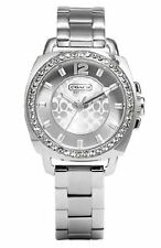 COACH 'Boyfriend' Crystal Bezel Bracelet Watch, 35mm 14501699