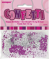 AGE 40 - Happy 40th Birthday PINK GLITZ - Party Banners, Balloons & Decorations
