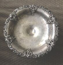 Antique Sterling Silver Repousé (chasing) Hand Hammered Footed Candy