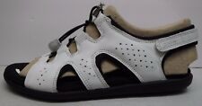 Ecco Size EUR 39 US 8 8.5 White  Leather Sandals New Womens Shoes