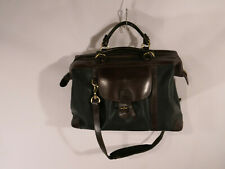 $875 Mulholland Brothers Longhorn Stout Brown Black Leather Weekend Duffel Bag