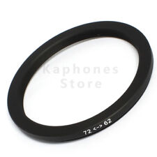 72-62mm Step-Down Metal Lens Adapter Filter Ring / 72mm Lens to 62mm Accessory