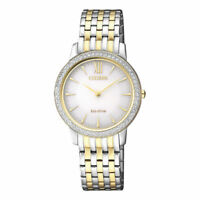 Citizen Eco-Drive Womens Silhouette Crystal with Swarovski Watch EX1484-81A NEW