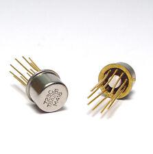 2x Spannungsregler IC TBA281 / TBA 281 / 723C, Gold-Pin, TO100 Regler, NOS