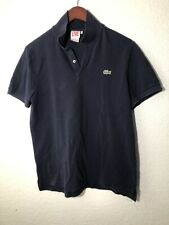 Men's LACOSTE LIVE BLUE POLO SHIRT Size 5 Medium Crocodile Logo