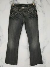 Silver Jeans Womens Black & Gray Wash Tina Bootcut Stretch Jeans 27/33