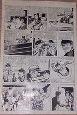 LEANDRO SESAREGO ORIGINAL ART PAGE ADVENTURE COMIC ARGENTINA 1950s