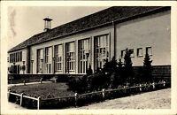"""Seebad Ahlbeck Usedom DDR s/w AK 1960 Partie am FDGB Erholungsheim """"Erholung"""""""