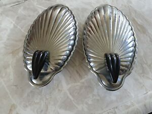 Stainless Steel Table Dishes With Glass Incerts For Butter/cheese Ect pair