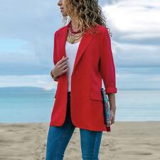 Women Blazer Open Front Coat Ladies OL Office Suit Cardigan Jacket Outwear Nice