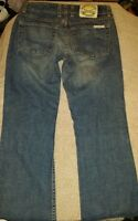 Woman's Lucky Brand dungarees denim blue jeans size 0/ 25