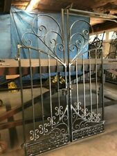 French Chateau Iron Scroll Gate ! Look !