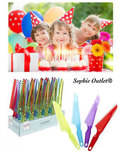 Plastic Cake Knife Serving Tool Measure Cutting Tools Slicer Kids Birthday Party