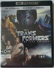 TRANSFORMERS: THE LAST KNIGHT 4K ULTRA HD BLU RAY 3 DISC SET FREE WORLD SHIPPING