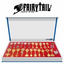 econoLED 25Pcs Fairy Tail Lucy Heart Celestial Spirit Gate Pendant Keychain Set