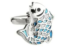 Fish Rainbow Cufflinks Diver Sea Ocean Wedding Fancy Gift Box Free Ship USA
