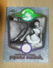 2014 Leaf Bettie Page authentic worn Pajama Pajamas swatch trading card PJ1 1/1