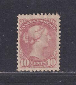 Canada Scott 40 SG 87 MH 1877 10¢ Dull Rose Lilac Small Queen SCV $1600