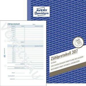 Avery Zweckform 307 Zählprotokoll A5   50 Originale, 50 Blatt