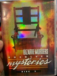 Unsolved Mysteries : Bizarre Murders Disc 2 region 1 DVD (true crime doco series