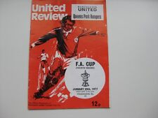 MANCHESTER UNITED V QPR  29/01/1977   Season 1976-77