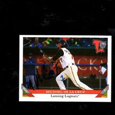 Michael De La Cruz 2015 Lansing Lugnuts auto signed team set card  Blue Jays