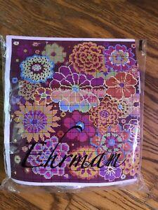 Ehrman Kaffe Fassett FIRE FLOWERS Needlepoint Chart w/some yarn NO CANVAS