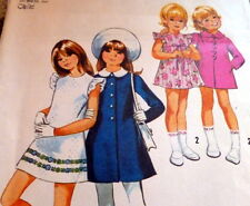 *LOVELY VTG 1970s GIRLS DRESS & COAT Sewing Pattern 6