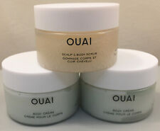 OUAI TRIO ~ Scalp & Body Scrub 30g & 2 X OUAI Body Creme 30g (60g) NEW AUTHENTIC
