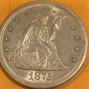 TWENTY CENT PIECE 1875-S EXTREMELY HIGH QUALITY UNCIRCULATED