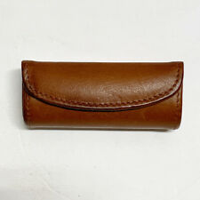 Vintage COACH British Tan Leather Lipstick Case Holder